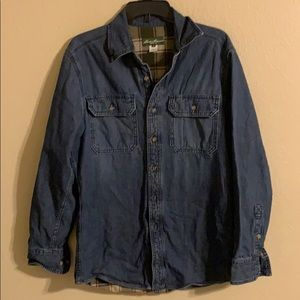 Men's Eddie Bauer heavy denim/flannel shirt S